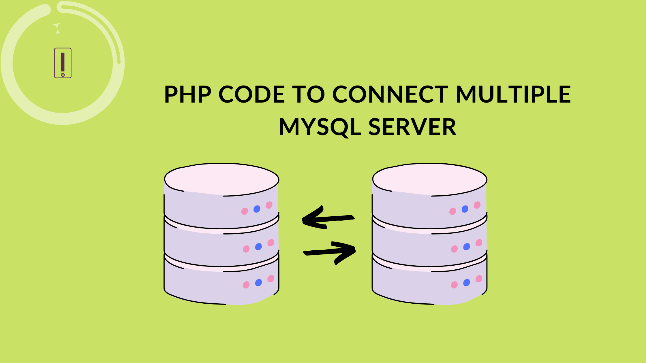 PHP code to connect multiple MySQL server multiple database simultaneously
