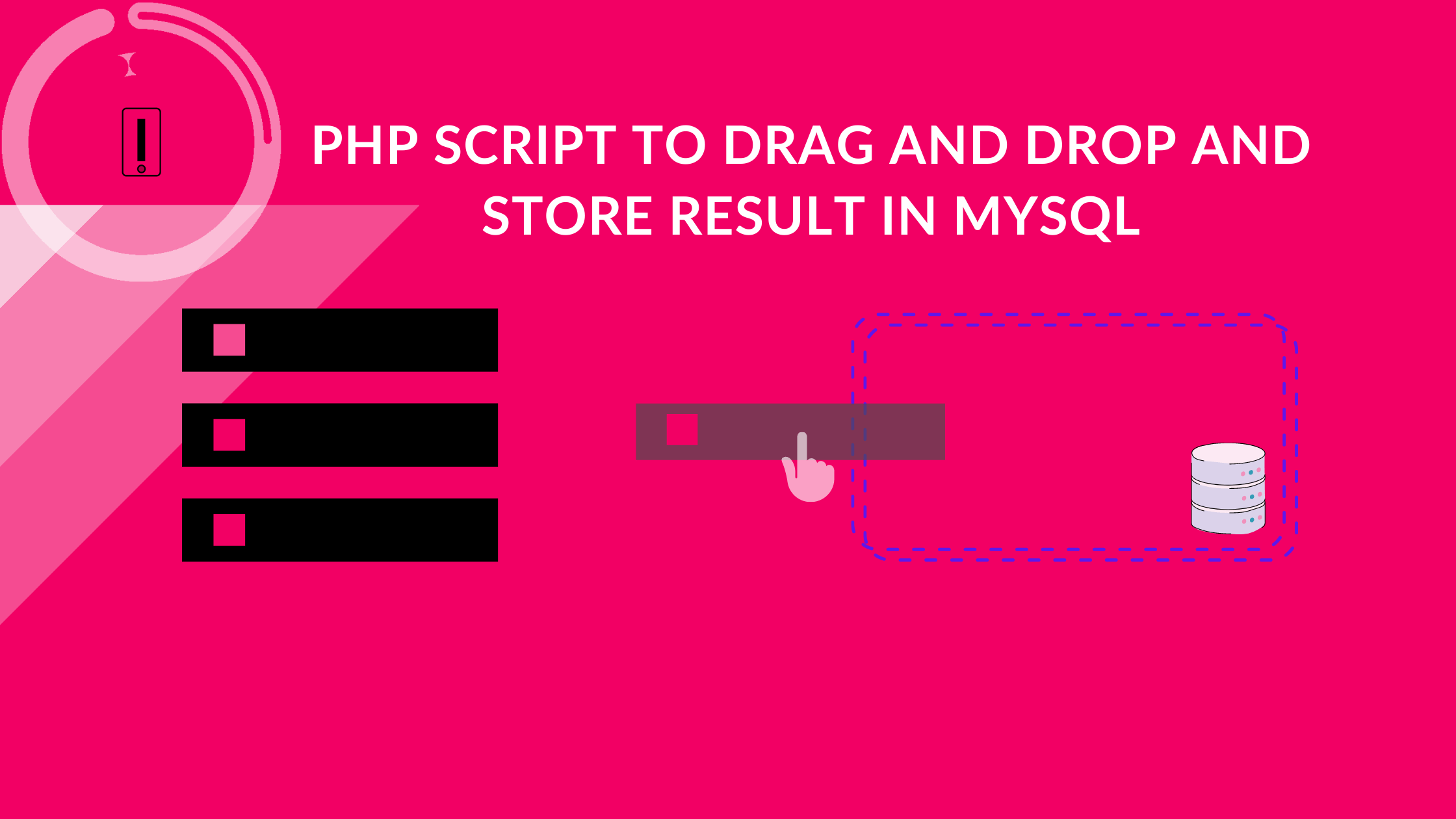 Simple Script in PHP to Drag and Drop jQuery UI and Store Result in MySQL