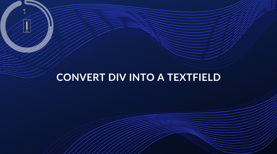 convert div element into a textfield or textarea